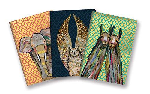 Studio Oh! Notebook Trio with Three Coordinating Designs, Eli Halpin Majestic Animals, 87409