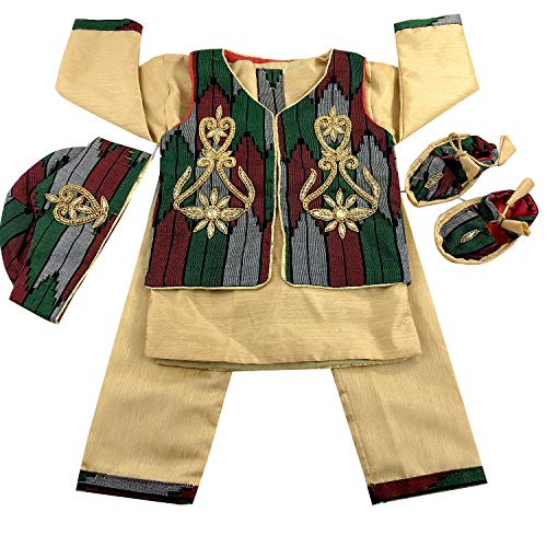 Srawen Dhaka Pasni Dress/Set Nepali Annaprasan Ceremony/Rice Feeding Baby boy Dress Baby WEANING ceromony Dress Blue