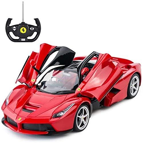 YIJIN Carro de Control Remoto, Coche de Control Remoto para Niños Recargable 2.4GHz Coche RC Abre La Puerta Vehículo Regalos de Cumpleaños