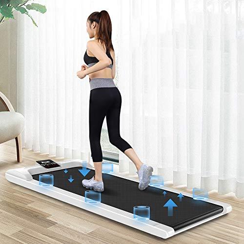 VBARV Desktop-Laufband, digitales elektrisches tragbares Laufgerät, intelligentes, ultradünnes, klappbares Fitness-Jogging-Cardio-Laufband, LED-Display und drahtlose Fernbedienung