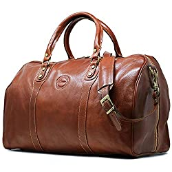 3) Cenzo Duffle Vecchio Brown Italian Leather Weekender Travel Bag AMAZON  For DETAILS click on image 8b5dfd07747d3