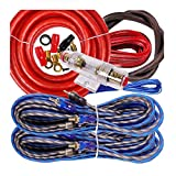 Complete 4 Channels 2500W Gravity 4 Gauge Amplifier Installation Wiring Kit Amp Pk3 4 Ga Red - for Installer and DIY Hobbyist - Perfect for Car/Truck/Motorcycle/Rv/ATV