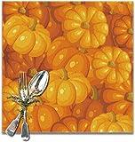 The VunKo - Set di 6 tovagliette riutilizzabili per il giorno del Ringraziamento, ideali per l'uso quotidiano, antiscivolo, per tavolo da pranzo, cucina, decorazione per la casa, colore: arancione