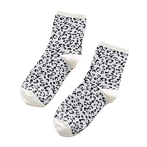 FAMILIZO Calcetines Mujeres Invierno Caliente Leopardo Impresión Piso Calcetines Pierna Lady Cable Cómodo Stocke Tobilleros Antideslizantes