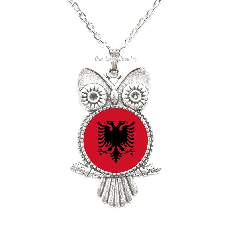 Ni36uo0qitian0ozaap Albania Flag Pendant Owl Necklace,Symbol Jewelry,Flag Jewelry, Jewelry Gift for Her Jewelry fine Jewelry,TAP271 eblbvneo968640