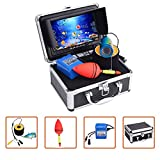 7' Color Monitor Portable Underwater Fishing Camera, Ice Lake Sea Fish Finder Camera Boat Accessory...