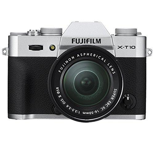 "Fujifilm X-T10 Appareil Photo Hybride Ecran LCD 3"" (7,62 cm) 16,3 Mpix Kit Boîtier Argent + Objectif XC 16-50 mm II"