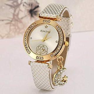 كيم سينغ ساعة رسمية لل نساء انالوج بعقارب جلد - CL-626