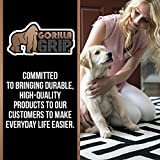Gorilla Grip Original Felt and Rubber Underside Gripper Area Rug Pad .25 Inch Thick, 5x8 FT, for Hardwood and Hard Floor, Plush Cushion Support Pads for Under Carpet Rugs, Protects Floors