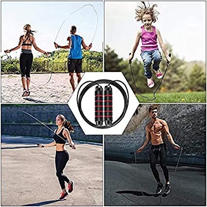 New 2 Pack Skipping Rope 9.8 feet Tangle-Free Jump Rope with Ball Bearing Cable for Exercise Fitness Gym Adjustable Length Jumping Rope with Memory Foam Handles for Kids Women Men