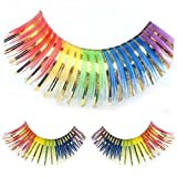 Colorful Rainbow Gold Clown Eyelashes by West Bay