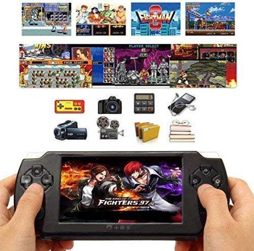 JB Super PSP Classic Gaming Console 8 Gb Playstation with Preloaded Games, jb4 MP4 Player, WiFi,Fm, Tf Memory Card & Camera 4.3 Inch Screen Full Hd 1080P