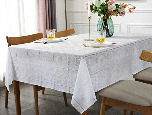 Traann Plastic tafelkleed poetsdoek Clea, vierkant waterdicht tafelkleed stof Home Decoration voor feestjes bruiloft slinger groene kant 135*160