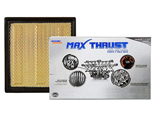 Spearhead Max Thrust Performance Engine Air Filter For All Mileage Vehicles - Increases Power & Improves Acceleration (MT-262)