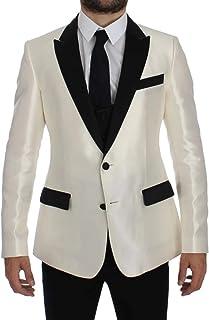 White Black Silk 2 Piece Blazer