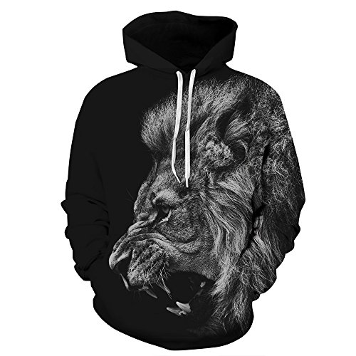 Hulaha Unisex 3d Pattern Plus Size Novelty Pullover Hoodies