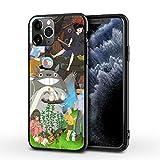 WellingA Cover per iPhone12 PRO Max Simpatica Custodia per Telefono Stampata My Neighbor Totoro Custodia per Telefono Ultra Sottile Anti Goccia in TPU,007,iPhone 12 Mini(5.4)