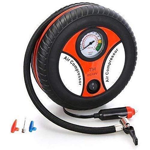 NavyVilla Black Electric Mini Dc 12V Air Compressor Pump for Car and Bike Tyre