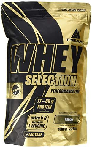 PEAK Whey Selection 1000g  über 40% Isolatanteil   Premium Molkenprotein mit L-Leucin   (Banana)
