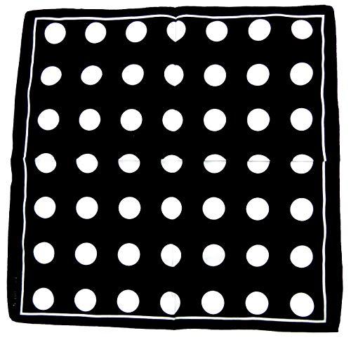 Preisvergleich Produktbild Evil Wear Nickituch schwarz 50er Jahre Stil Pünktchen weiss 54cm