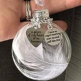 Freenfitmall Adornos de Navidad con diseño de My Heart Is In Heavens Memorial Feliz Navidad, decoración de Navidad, decoración de fiesta