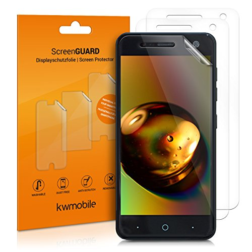 kwmobile 3X Schutzfolie kompatibel mit ZTE Blade V8 Mini - Folie klar - Bildschirmschutzfolie Bildschirmschutz transparent Bildschirmfolie