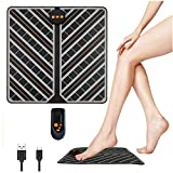 EMS Foot Massager, USB Rechargeable Folding Portable Electric Massage Mat with 6 Modes 15 Intensity Levels, Electronic Muscle Stimulatior Feet Massage
