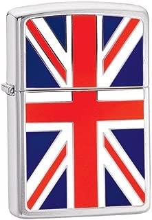 Zippo Union Jack Emblem Brushed Chrome Windproof Lighter