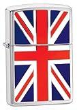 Zippo Windproof Lighter| Metal Long Lasting Zippo Lighter|Best with Zippo Lighter Fluid| Refillable Lighter|Perfect for Cigarettes Cigars Candles|Pocket Lighter Fire Starter|Union Jack Emblem