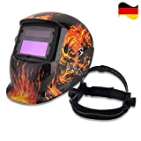 Solarbetrieben Schweißschutzschild Automatik Schweißhelm Maske Face Schutz mit Großes Sichtfeld...