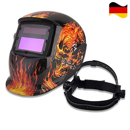 Solarbetrieben Schweißschutzschild Automatik Schweißhelm Maske Face Schutz mit Großes Sichtfeld für Alle Gängigen Schweißtechniken - Schweißen