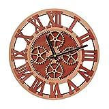 Giftgarden Reloj de Pared de Engranaje Redondo