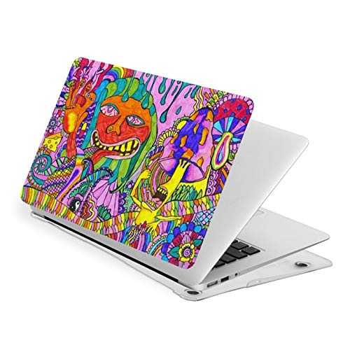 Magical Psychedelic Trippy Art Heat Waterproof Pv Laptop Protector, Hard Shell Case with Bottom Cover Compatible with MacBook New Air13