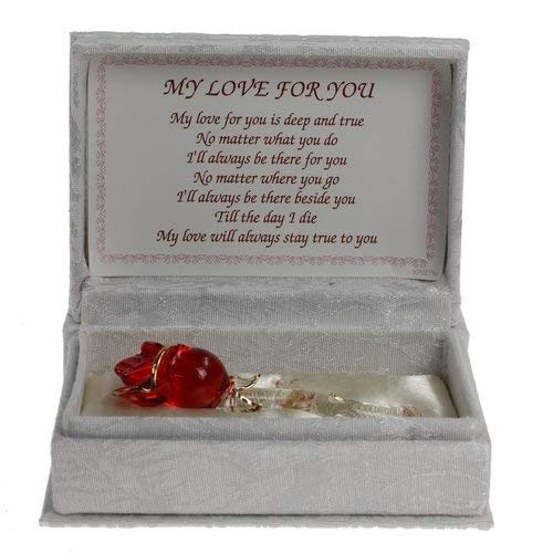 Love Red Rose Gift Boxed Present Wife Partner Mother