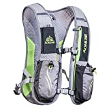 AONIJIE Running Backpack Sac à dos fonctionnel léger d'hydratation Pack 5.5L (Gris)