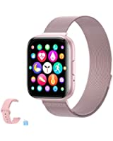 2020 Upgraded Smart Watch for Women, Fitness Tracker with Heart Rate/Sleep/Steps Monitor Compatible for iPhone Samsung Android, Bluetooth Call Smartwatches for Men