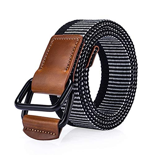 Buy Canvas Belt Mens Canvas Belt Mens Automatic Buckle Belts Casual Weave Waist Strap Women Waistban...