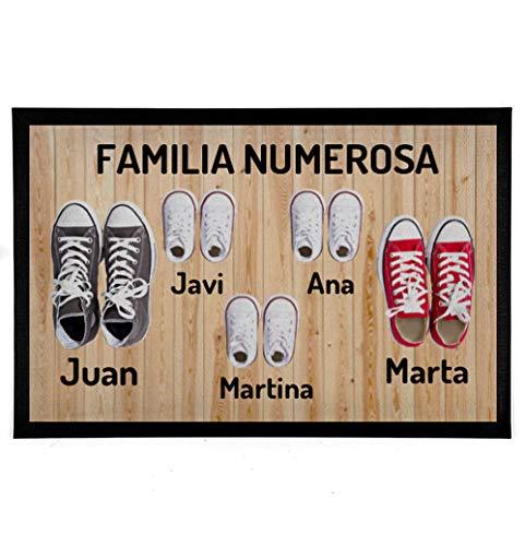 NANNUK - Felpudo Personalizado Goma Familia 5