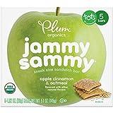 Plum Organics Jammy Sammy, Organic Kids Snack Bar, Apple Cinnamon & Oatmeal, 5 Count, Pack of 6