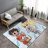 Yokai Watch Game Nathan Adams Jibanyan Alfombra antideslizante resistente a las manchas, acogedora alfombra de yoga para el suelo, decoración del hogar para interiores de 60 x 99 cm
