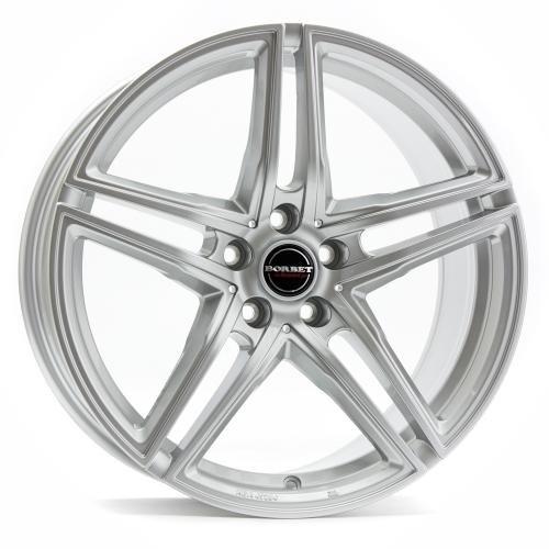 Borbet XRT brilliant silver 8x18 ET45 5.00x112 Hub Bore 72.50 mm - Alu felgen