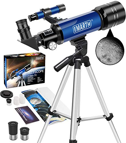 cheap Emart telescope, travel telescope 70mm / 360mm astronomical refracting telescope with tripod and viewfinder …