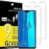 NEW'C 2 Unidades, Protector de Pantalla para Huawei Y9 2019 (Enjoy 9 Plus), Antiarañazos, Antihuellas, Sin Burbujas, Dureza 9H, 0.33 mm Ultra Transparente, Vidrio Templado Ultra Resistente