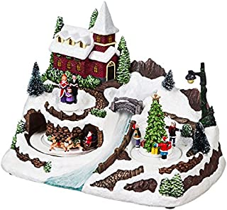 Cypress Home LED Musical Christmas Village