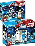 Bundle Playmobil City Action 70498 70502 - Juego de iniciación de policía y accesorios