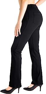 Yogipace,Belt Loops,Women's Petite/Regular/Tall Straight Leg Yoga Dress Pants