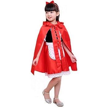 Idealady - Disfraz de Caperucita Roja para Niñas: Amazon.es ...