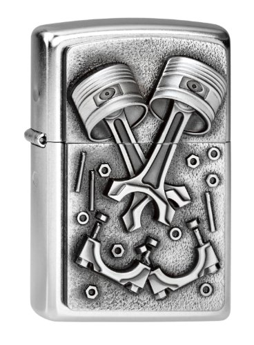 Zippo 207 Engine Parts Feuerzeug, Messing, Street Chrome, One Size