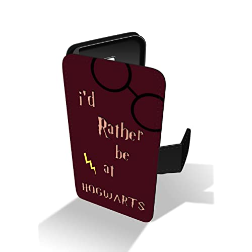 8da30f1c744 I Rather Be At Hogwarts Harry Potter Quote Faux Leather Phone Case for  iPhone 5 &