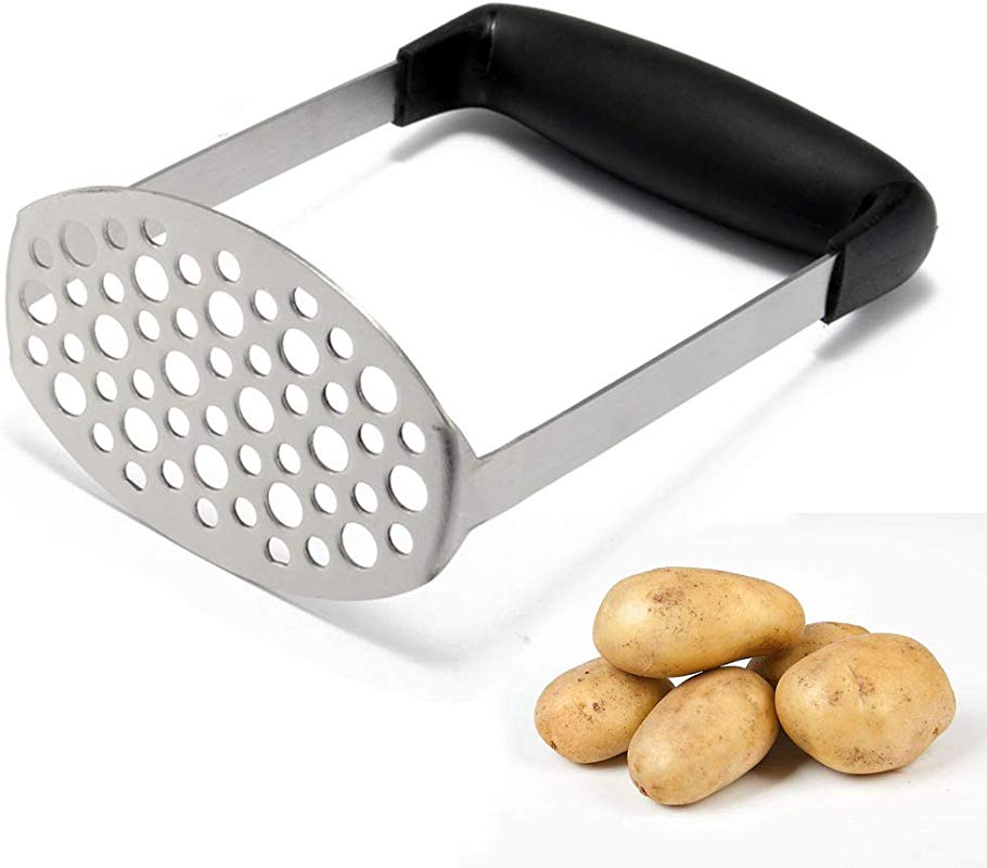 LOMONI Stainless Steel Light Portable With Potato Masher Fine Mesh Kitchen Garlic Press Potato Potato Sweet Potato Anti Slip Handle